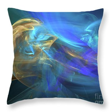 Throw Pillow featuring the digital art Waves Of Grace by Margie Chapman
