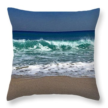 Throw Pillow featuring the photograph Waves Of Happiness  by Cindy Greenstein