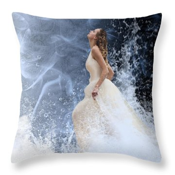 Waves Of His Glory Throw Pillow