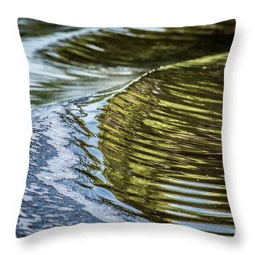 Waves Of Reflections Throw Pillow by Brian Wright