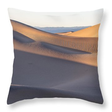 Waves Of Sand Throw Pillow by Jon Glaser