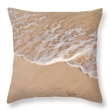 Waves On The Beach Throw Pillow by Adam Romanowicz
