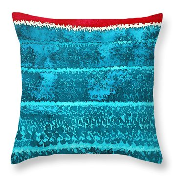 Waves Original Painting Throw Pillow