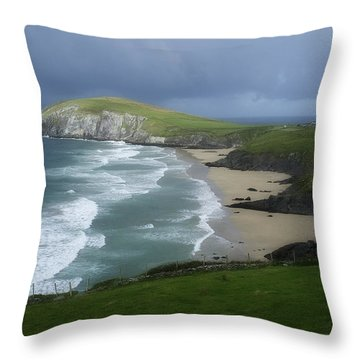 Waves Ring Of Dingle Throw Pillow