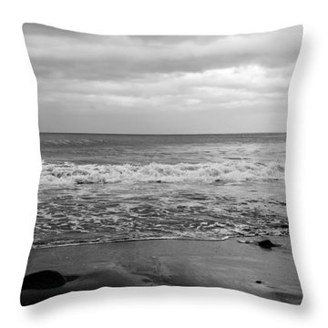 Waves Rolling In  Throw Pillow