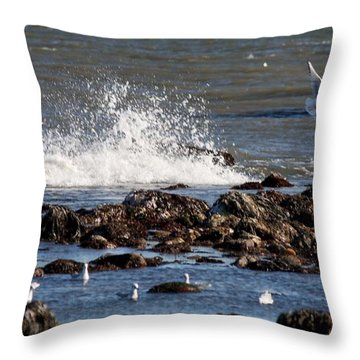 Waves Wind And Whitecaps Throw Pillow
