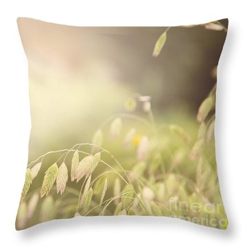 Throw Pillow featuring the photograph Waving Fields by Sally Simon