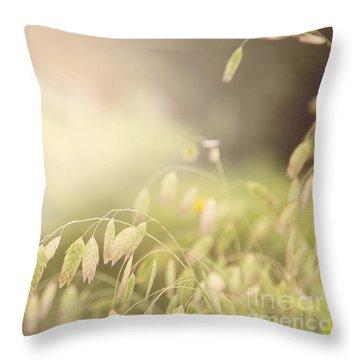 Waving Fields Throw Pillow by Sally Simon