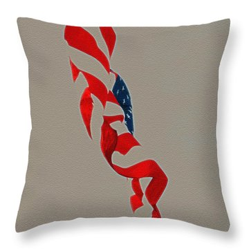 Waving Throw Pillow by Lydia Holly
