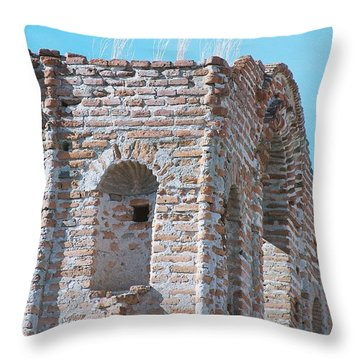 Throw Pillow featuring the photograph Waving To The Sky by Kerri Mortenson
