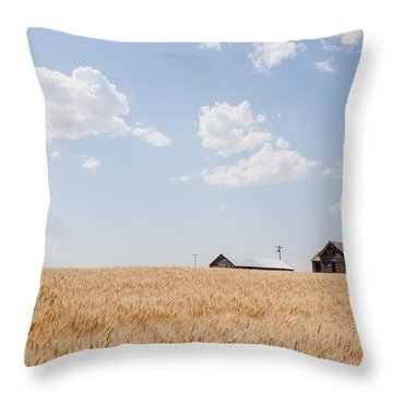 Waving Wheat Homestead Throw Pillow