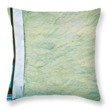 Wavy Wall With Window Throw Pillow