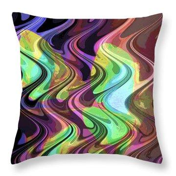 Wavy Throw Pillow by Yael VanGruber
