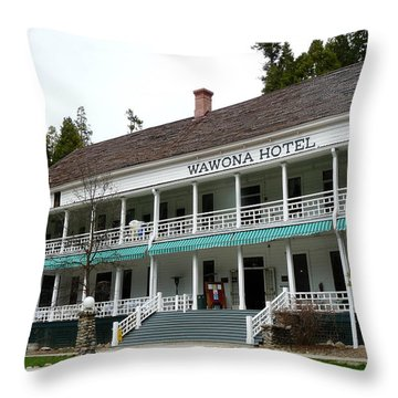 Wawona Hotel In Yosemite  Throw Pillow