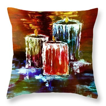 Wax Throw Pillow