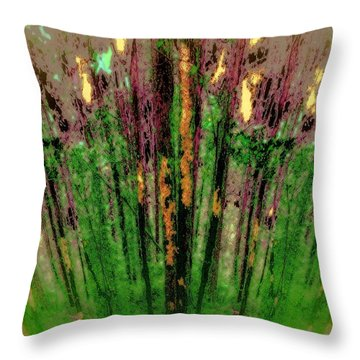 Wax Forest Cathedral Throw Pillow