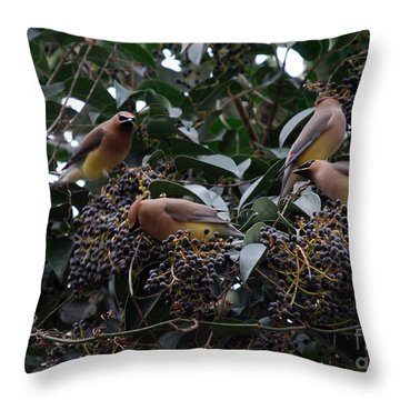 Wax Wings Supper  Throw Pillow