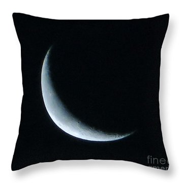Waxing Moon Throw Pillow by Tim Townsend