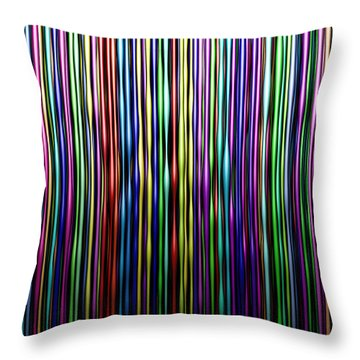 Waxy Lines Throw Pillow by Matt Lindley