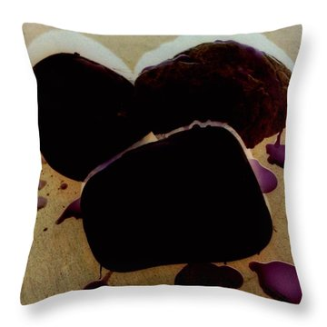 Waxy Stones Throw Pillow