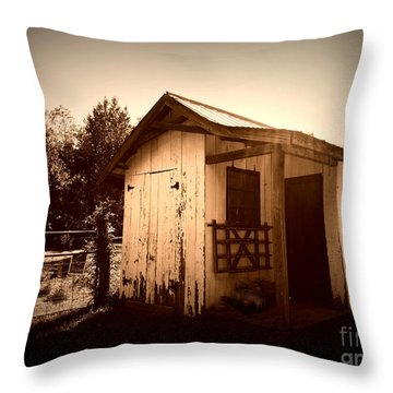 Way Back In The Day Throw Pillow by Deborah Fay