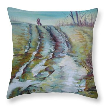 Way Home Throw Pillow by Elena Oleniuc