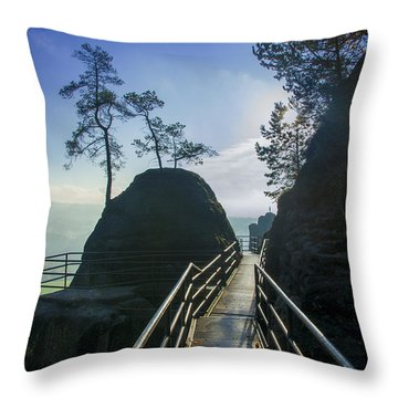 Way Into The Light On Neurathen Castle Throw Pillow