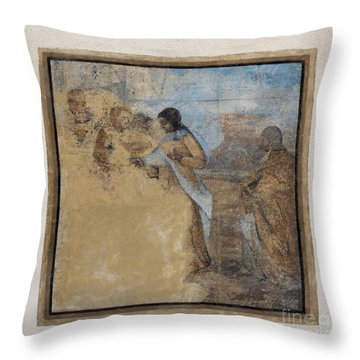 Way To Calvary Throw Pillow by Michal Boubin