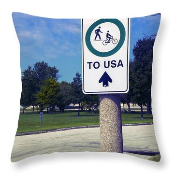 Way To The Usa Throw Pillow