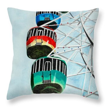 Way Up In The Sky Throw Pillow