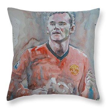 Wayne Ronney - Portrait 1 Throw Pillow by Baresh Kebar - Kibar