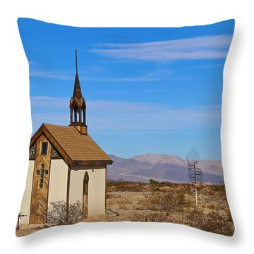 Wayside Chapel Throw Pillow