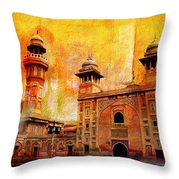 Wazir Khan Mosque Throw Pillow by Catf