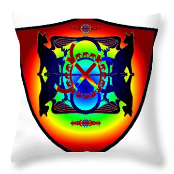 Wc Power Shield Throw Pillow