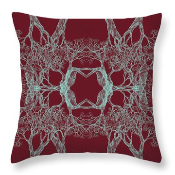 We Are All Made Of Stars Tree 12 Hybrid 1 Red Throw Pillow