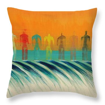 Throw Pillow featuring the painting We Are All The Same by Tim Mullaney