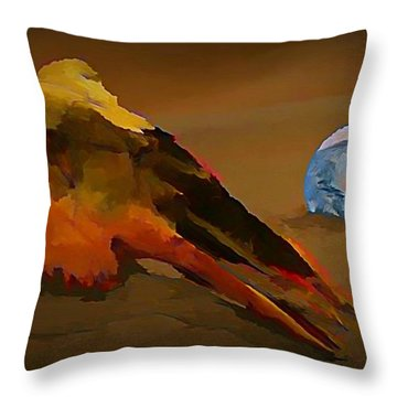 We Are But Bacteria On A Beautiful Marble  Throw Pillow by John Malone