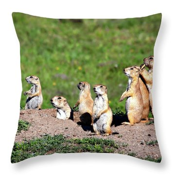 We Are Family Throw Pillow by Lana Trussell