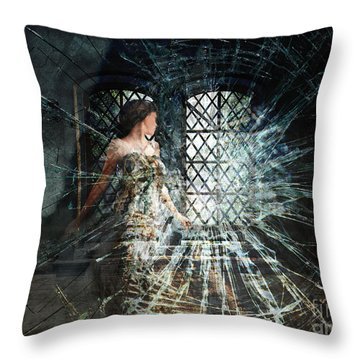 We Are Glass Throw Pillow by Lianne Schneider