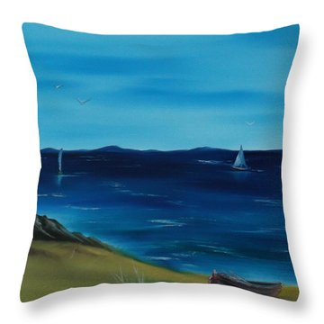 We Are Sailing.. Throw Pillow by Cynthia Adams