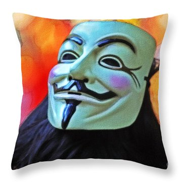 We Are The 99 Throw Pillow by Stefano Senise