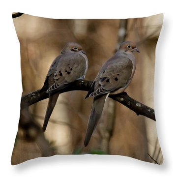 Throw Pillow featuring the photograph We Came Together - We're Leaving Together by Robert L Jackson