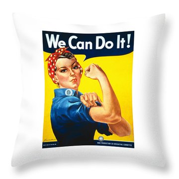 We Can Do It - Ww2 Throw Pillow