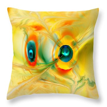 We Come In Peace Throw Pillow by Anastasiya Malakhova
