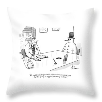 We Could Reshape Your Nose With Conventional Throw Pillow