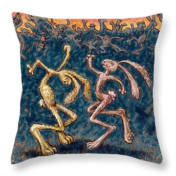We Dance To Save The World Throw Pillow by Holly Wood