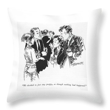 We Decided To Just Stay Preppy Throw Pillow