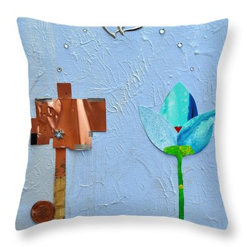 Throw Pillow featuring the painting We Found Love by Christine Ricker Brandt