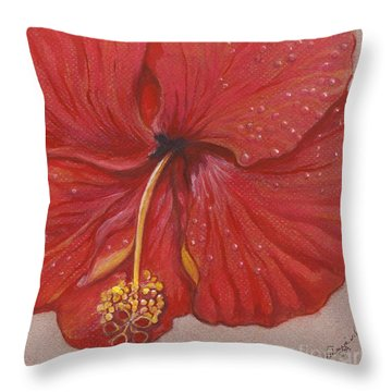 Throw Pillow featuring the painting We Have Had Rain by Carol Wisniewski