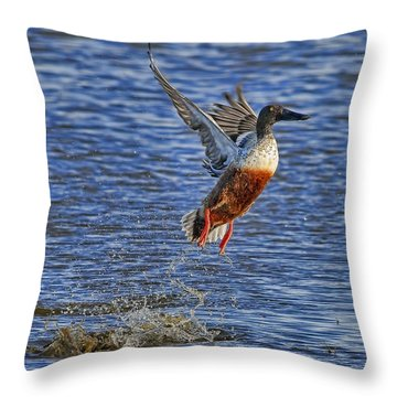 Throw Pillow featuring the photograph We Have Liftoff by Gary Holmes